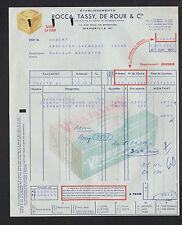"MARSEILLE (13) SAVONNERIE de MEDITERRANEE SAVONS ""ROCCA TASSY & DE ROUX"" en 1959"