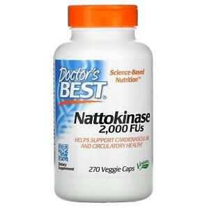 Doctor's Best, Nattokinase, 2,000 FUs, 270 Veggie Capsules