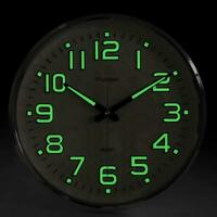 Large Non-Ticking Wall Clock Glow In The Dark Silent Quartz Home Office Decor US