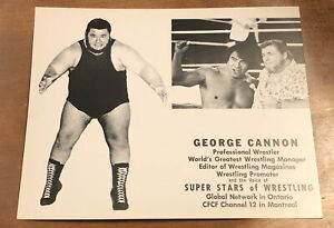 George Crybaby Cannon Original 8 X 10 Promo Photo Canada Superstars Of Wrestling