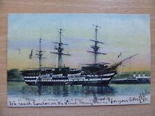 Brest LA BRETAGNE French training ship launched 1865 postcard
