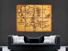 Middle earth map Seigneur Des Anneaux Poster Mural Art Image Print grand