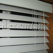 Ecowood Venetian Blinds, Size: 180x210cm, 50mm Slat, Colour: White