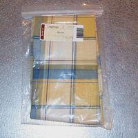 Longaberger Cornflower Plaid BAGEL Basket Liner ~ Brand New in Longaberger Bag!