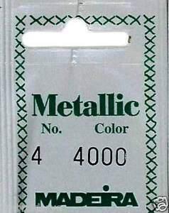 Madeira Stranded Metallic Hand Embroidery Thread - No. 4