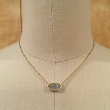 Kendra Scott Elisa Pendant Necklace In Light Blue Illusion