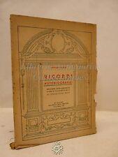 Dupre: Ricordi Autobiografici, Ed. Trevisini 1935, Sculture, Arte, Architettura
