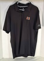 ADIDAS Mens Size L Polo Shirt MERCER University Bears Logo Black