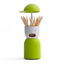 Qualy Picky Boy Tabletop Toothpick Holder Stand Green