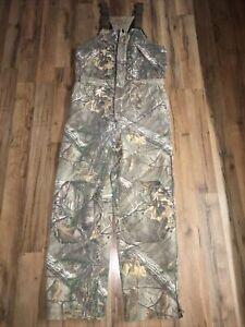 RedHead Realtree Silent Hide Camouflage Men's Bib Overalls Size L