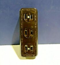 Leviton BROWN Single JUMBO Surface Mount Triple Convenience Outlet 323 NEW