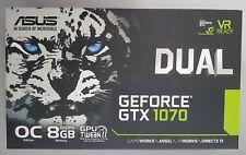 ASUS Nvidia Dual GeForce GTX 1070 OC Edition GDDR 5 Tarjeta Gráfica 8 GB VR listo