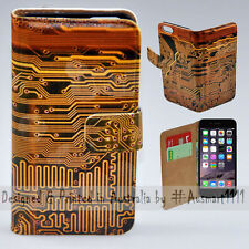 """Wallet Phone Case Flip Cover for iPhone 6 6S 4.7"""" - Electronic Circuit Board"""