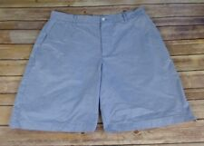 Dunning Coolmax Moisture Wicking Baby Blue Small Gingham Check Golf Shorts 36
