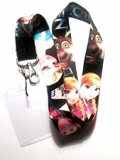 * Disney Lanyard 'Frozen' Black With Passholder * Cell Phone * ID Key  * UK