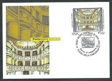 2002 ITALIA CARTOLINA POSTALE FDC TEATRO DELLA CONCORDIA ANNULLO CASTELLO VIBIO