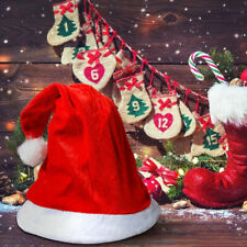 Golden Velvet Christmas Hat Hairball Red Santa Claus Cap Festival Costume