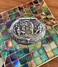 Antique Dutch .835 Silver Repousse Pill/snuff Box