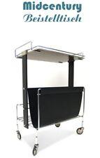 Beistelltisch Bauhaus Vintage MidCentury Chrom schwarz Tisch
