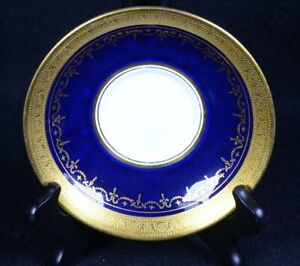 AYNSLEY #7348 Fine English China GEORGIAN Cobalt & Gold : SAUCER