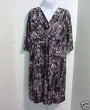 George Women's Black/Gray Snake Print Dress Size 8-10 Medium