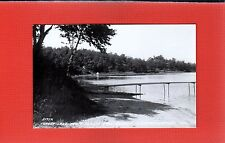 RPPC Campbellsport,Fond Du Lac County,WI Wisconsin Forest Lake from Resort