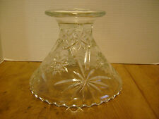 Vintage Early American Prescut EAPC Punch bowl Base Clear  RB-1
