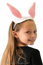 White Rabbit Costume Kids Ears & Tail Easter Bunny Childs World Book Day Animal