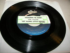 Gene Watson Memories To Burn / Get Along Little Doggie 45 VG+ Juke Box
