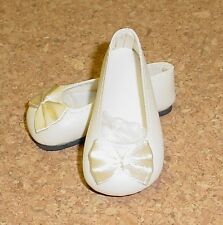 Doll Shoes, 25/12mm Cream Bow Trim Custom for Kish Riley (Photo larger size)