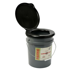 Reliance Products Luggable Loo Portable Lightweight 5 Gallon Toilet, Gray