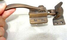 rare ICE BOX CATCH lever aged style solid Brass heavy offset hand made roller B