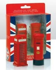 Telephone Box & Post Box Set London Metallic British Souvenir Gift