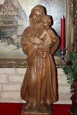 große sakrale Holzfigur Heilige Maria Madonna 72cm Heiligenfigur handgeschnitzt
