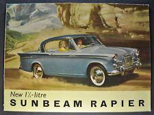 1958 Sunbeam Rapier Catalog Sales Brochure Excellent Original 58