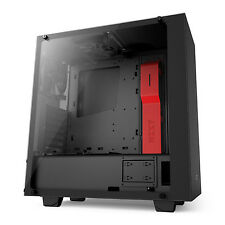 Nzxt S340 Elite Negro/Rojo Mid Tower Case-CA-S340W-B4