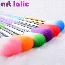 Nail Art Glitter Brush Dust Clean UV Gel Powder Remover Rhinestone Handle