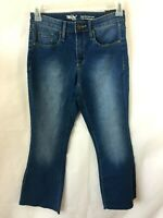 Mossimo womens jeans size 4 flare high rise cropped stretch NEW