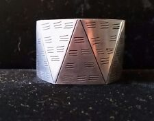 """Vintage Abstract Cuff Bracelet, 5.5"""""""