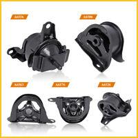 5PCS ENGINE MOTOR & TRANS MOUNT KIT MANUAL FOR 98-01 HONDA CRV 2.0L BLACK