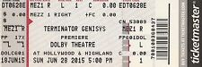 Terminator Genisys World Premiere Unused Ticket Dolby Theatre June 28 2015 Rare!