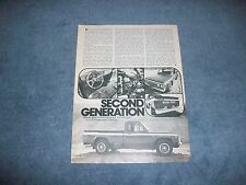 "1975 Mazda Rotary Pickup Vintage Info Article ""Second Generation"""