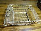 Gold-Tone Metal Ornate Basket Utensil Napkin Holder Gift Tray Vanity Decor   515