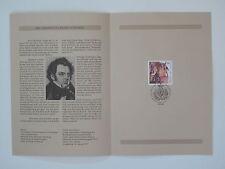 (97j1) Bund Erinnerungsblatt 1997 mit ESST Mi.Nr. 1895 Franz Schubert
