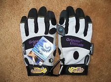 LED Reinforced Hook Cycling Gloves Ultimate Gripster Size M Medium NEW SG9008