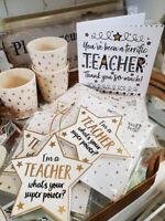 Thank you Teacher Superpower Star Plaque & card Card / gift for special  teachet