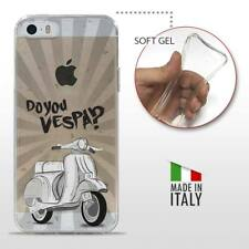 iPhone 5 5S SE TPU CASE COVER PROTETTIVA GEL TRASPARENTE VINTAGE Do You Vespa