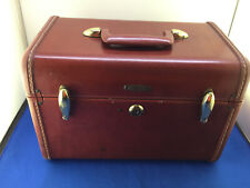 Vintage Samsonite Brown Ladies Train Make Up Case Shwayder Bros Denver #4912