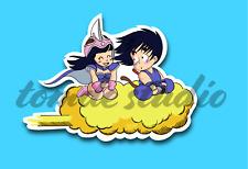 Goku & Chi Chi Sticker - Flying Nimbus - Vinyl Decal - First Edition