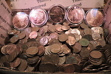 For copper collector. 2.65 kg 95% copper cents + (5) assorted .999 copper rounds